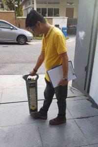 Underground detection before anti termite corrective treatment